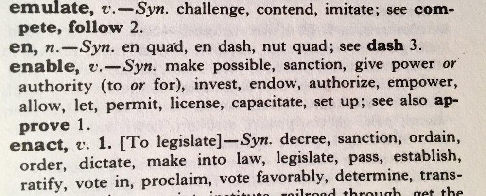 Enable Thesaurus