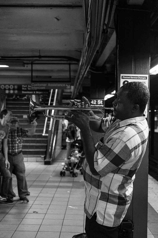 In the Trumpet. 42 st-Times Sq 2015. / © Kiki Provatas. No usage without permission
