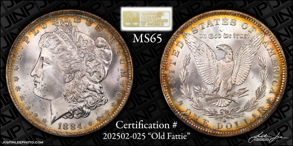 1884-O Morgan Dollar NGC MS65