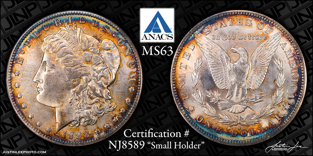 1888-O Morgan Dollar ANACS MS63