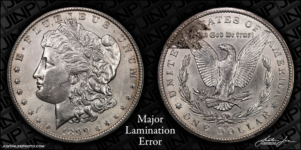 1899-O Morgan Dollar Reverse Lamination Raw