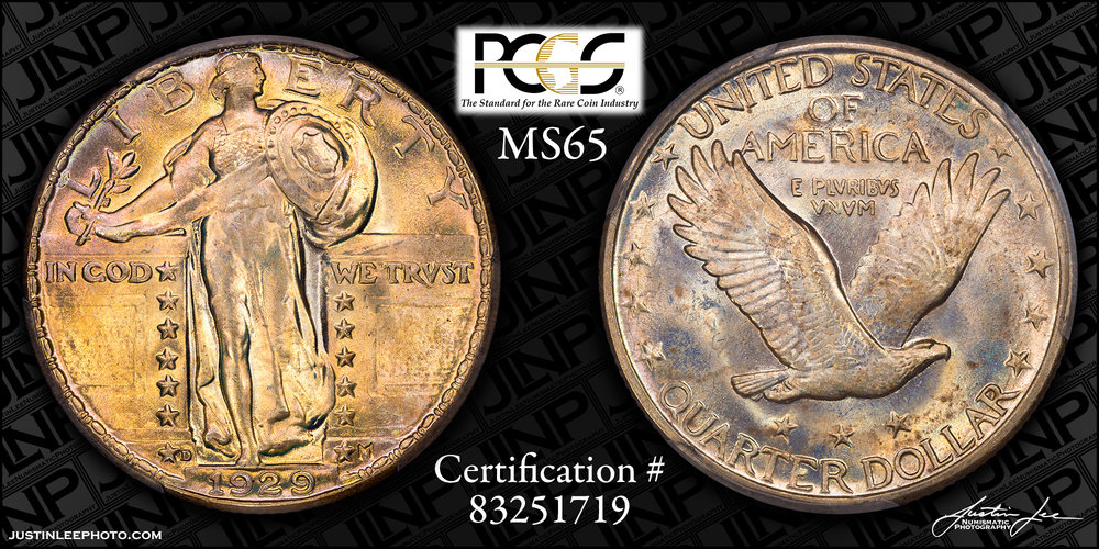 1929-D Standing Liberty Quarter PCGS MS65