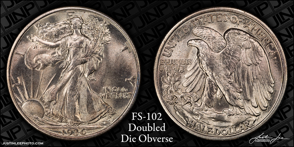 1936 Walking Liberty Half Dollar DDO FS-102 Raw
