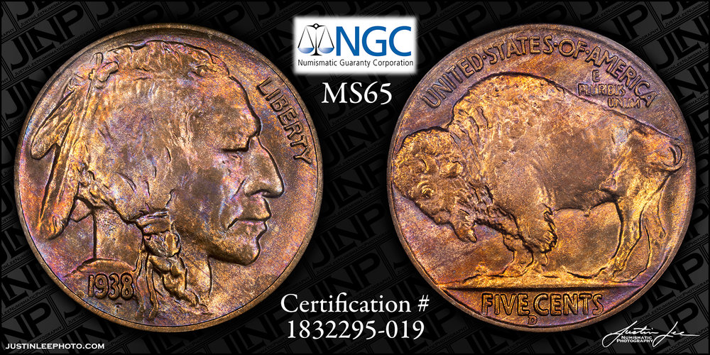 1938-D Buffalo Nickel NGC MS65