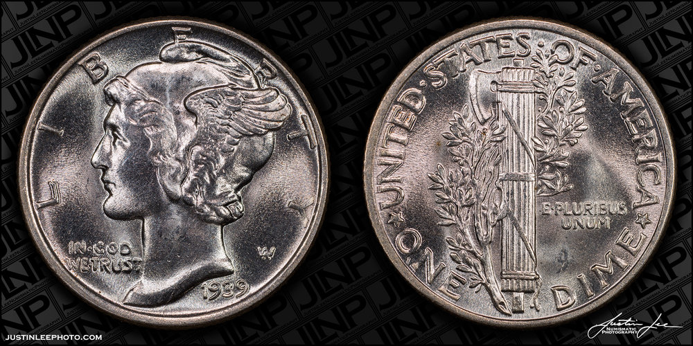 1939 Mercury Dime Raw