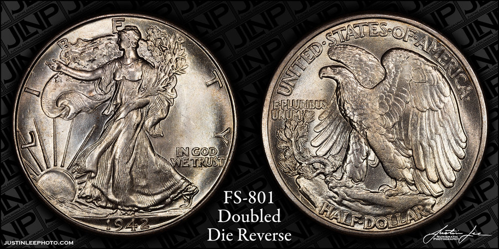 1942 Walking Liberty Half Dollar DDR FS-801 Raw