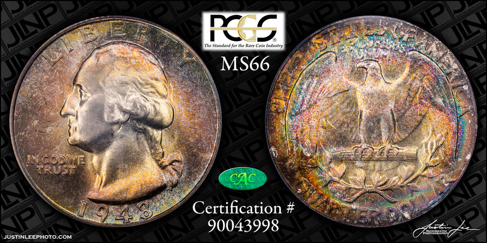 1948-S Washington Quarter PCGS MS66 CAC