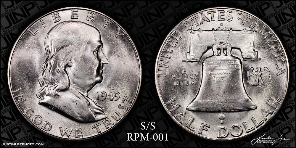 1949-S/S Franklin Half Dollar RPM-001 Raw