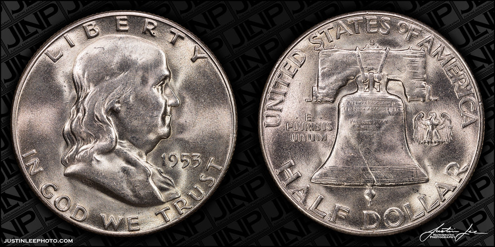 1953-S Franklin Half Dollar Raw
