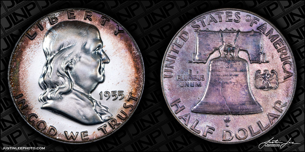 1955 Proof Franklin Half Dollar Raw