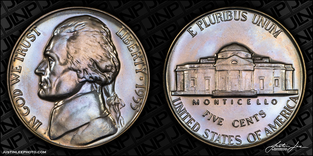 1955 Proof Jefferson Nickel Raw
