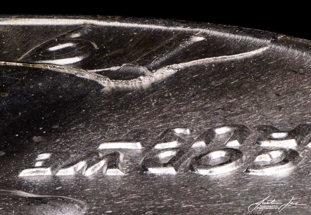 1964-D Washington Quarter Die Break Detail