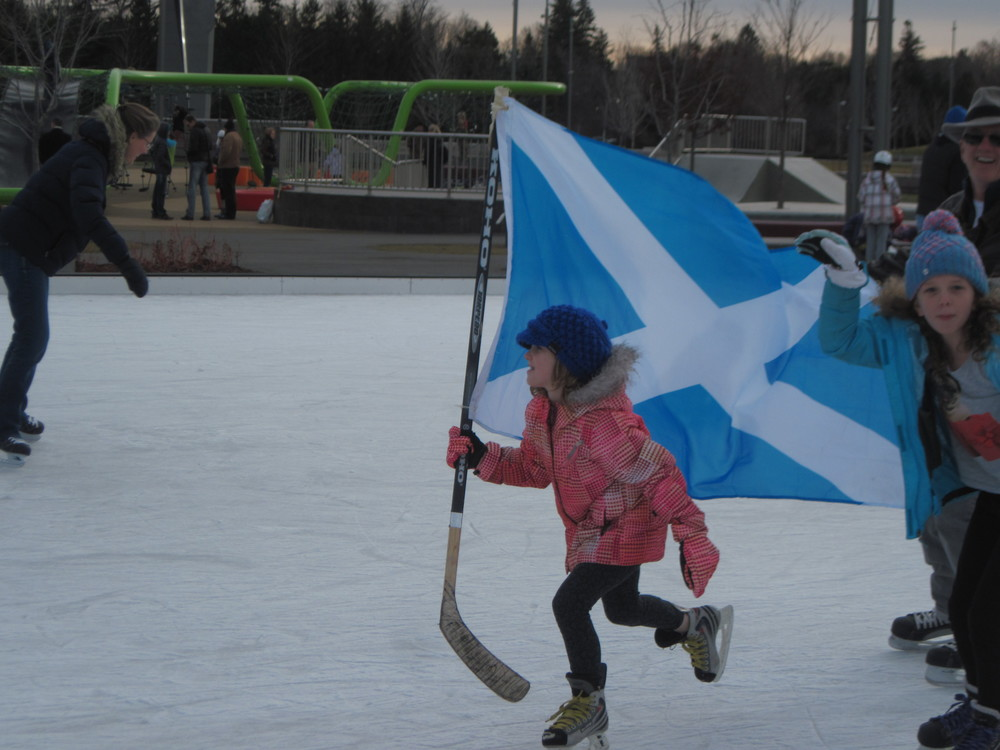 Celebrating Scottish heritage on the ice at Ottawa's Aberdeen Pavilion.