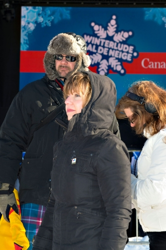 Heather Theoret and John ivison at the confederation park finale of the 2015 kilt skate.