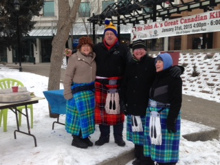 Some people summon their inner Scot with towels from Canadian Tire.