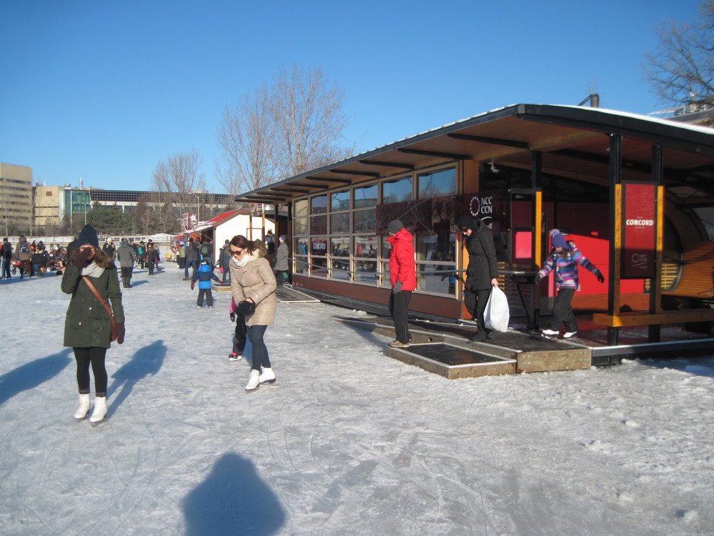 Skate-Change hut at Concord.