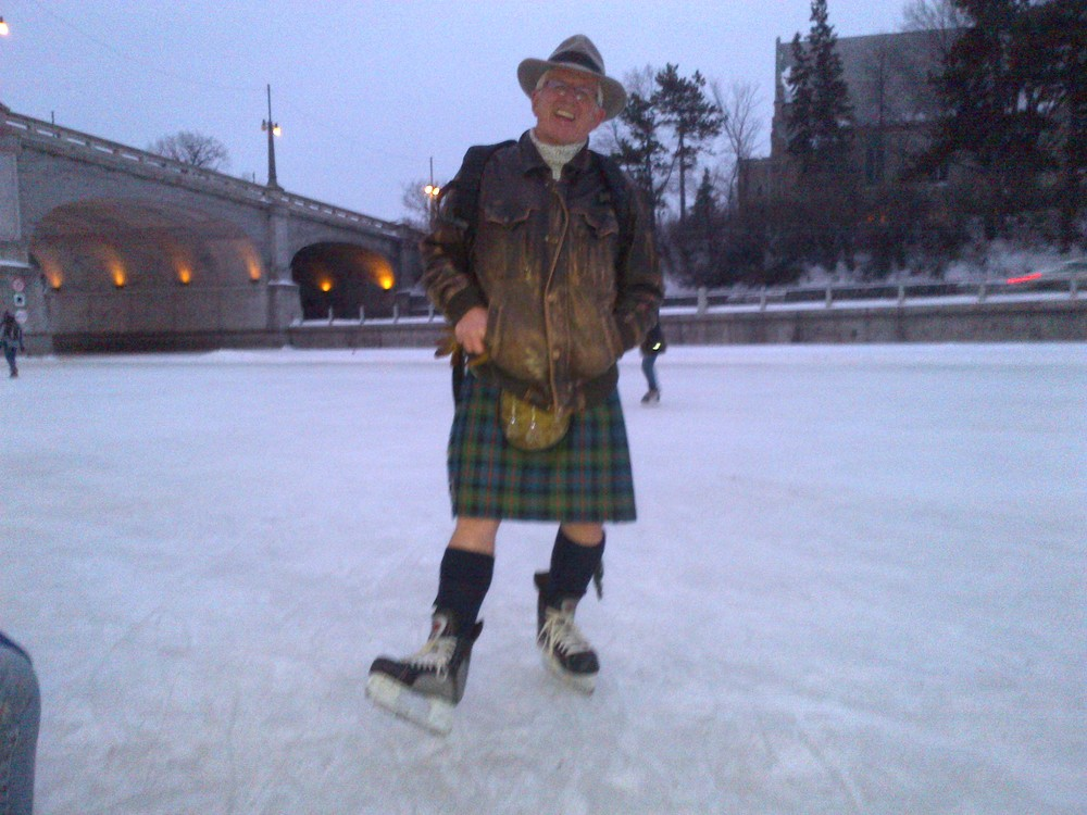 Skating on Robbie Burns Day.
