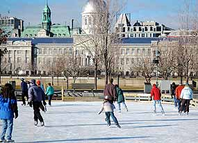Skating at Montreal's vieux port.