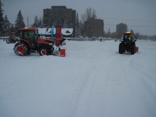 NCC crews hard at work clearing 53 cm of snow.