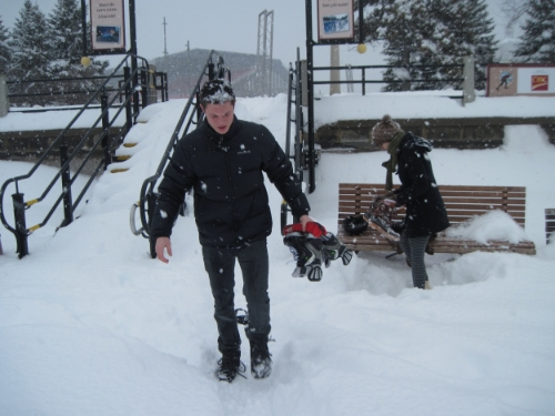 And then it's time for Jacob to go to work.