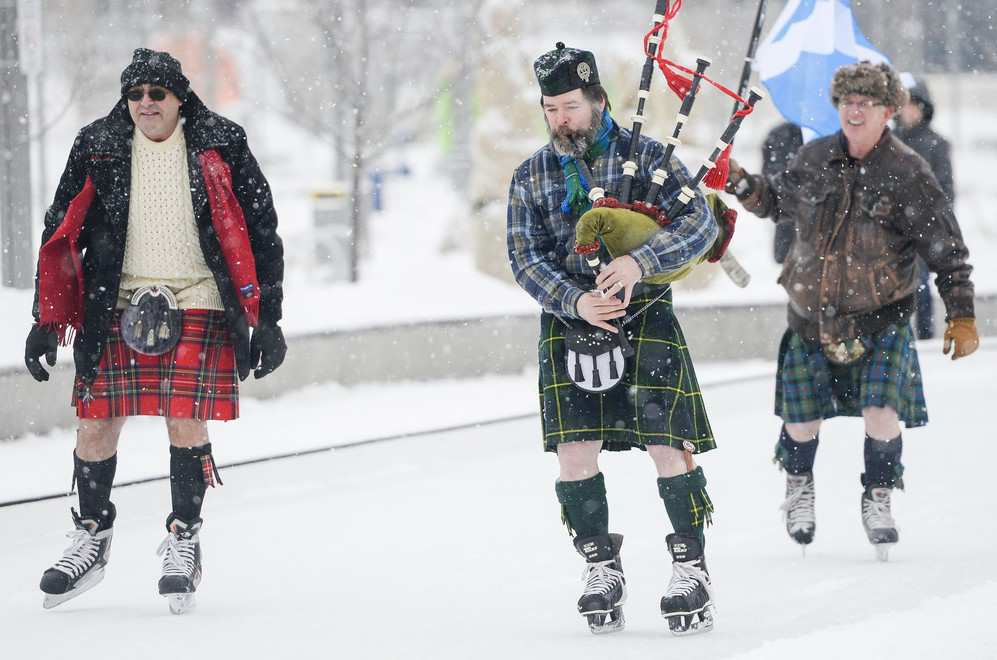 last winter, sEVEN cities signed up to host kilt skates to celebrate canada's 150th birthday