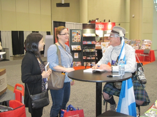 Book signing: a Change to meet teachers and librarians and teacher-librarians from across ontario.