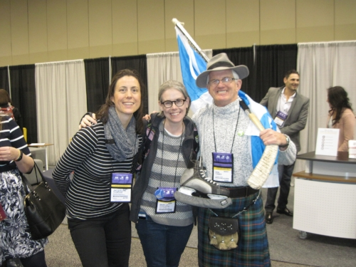 Making new friends, finding new readers, proselytizing the gospel of the kilt skate.