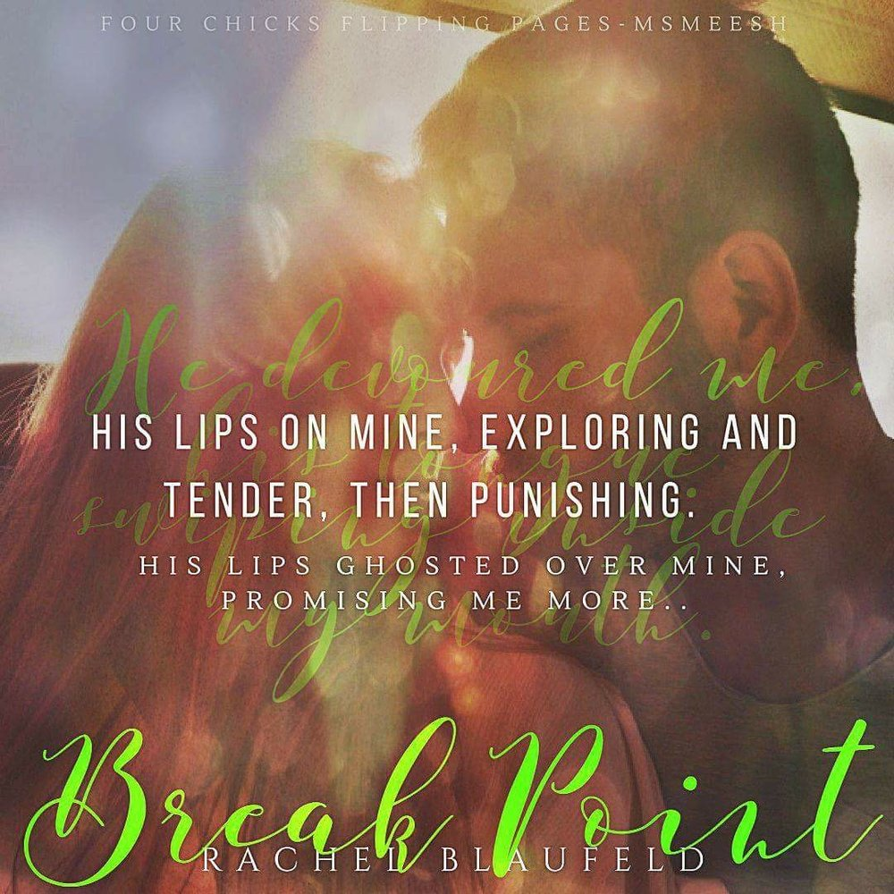 Stunning NEW Teaser by Michelle of Four Chicks Flipping Pages. Break Point, Part 1 Coming Soon.