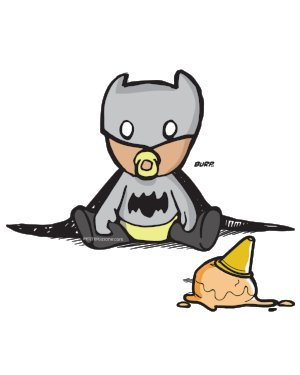 Grayson as Bat Baby