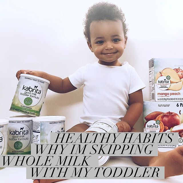 Now that our tot @littlemrgray is one, we quickly began the search for calcium options to meet his nutritional needs. While the usual by-the-book default recommendation is to introduce whole milk to your toddler once they've weaned off of breast milk or formula (at age one) 👦🏽🍼➡️🥛; we're just not huge fans of cow's milk in our home,  We became determined to find a much more superior alternative 🚫🐮, and we're happy to announce that we have in fact found an amazing option that is working for @littlemrgray - @hellokabrita: a highly-nutritional European-quality goat milk formula. 🐐 Check out our latest post on the blog and see what our experiences were trying out other brands. See why I opted for a toddler formula and why #goatmilk is a much more superior alternative thank cow's milk. To happiness and health! Link in bio. #LoveKabrita #KabritaMom #NourishWithConfidence #KabritaKid 🐐🐐🐐🐐