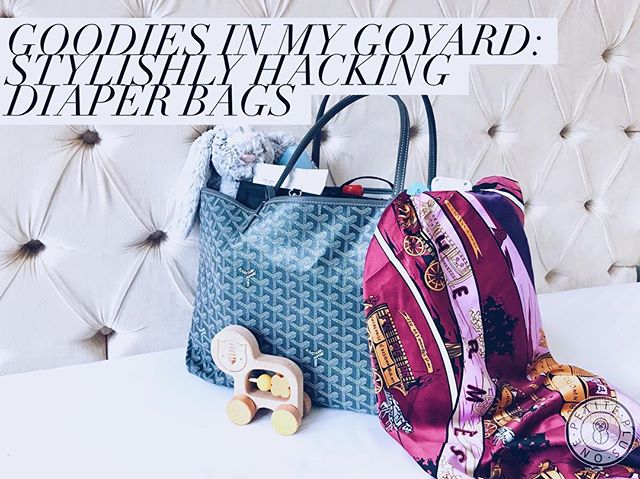 👜 Now on the blog 👜: Goodies in My Goyard - My Fashionable Diaper Bag Hack! •• I get asked all the timeeeee about what I pack in a diaper bag and even better - recommendations on stylish diaper bags. In this post I cover all of that and more; but for those who are still in the dark about this awesome haute mama must-have, here's a glimpse at my @totesavvy! ToteSavvy has been on the market for a few years but I'm finding that some mamas are still not in the loop or maybe just not convinced. Well fear no more because here is mine, and I'm blogging about why I love it! Peep the link in bio to check it out. #millennialmommin 👩👦