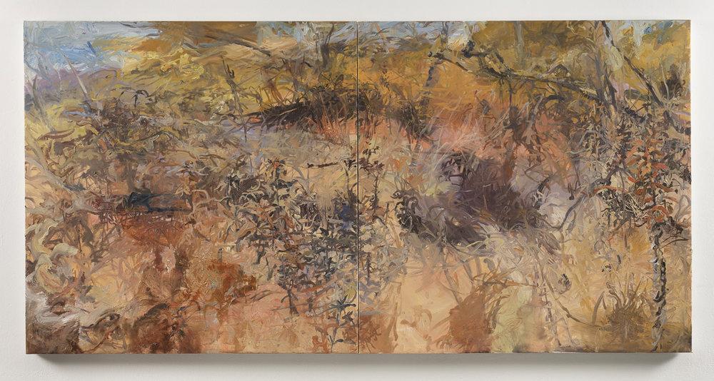 Skokie Lagoon III   2017, Oil on Canvas, 3ft x 6ft