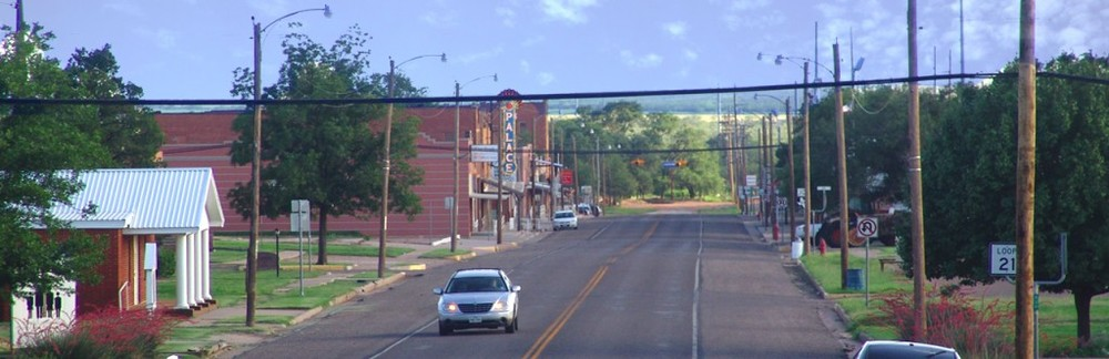 The view down Burlington Avenue (Main St) looking South