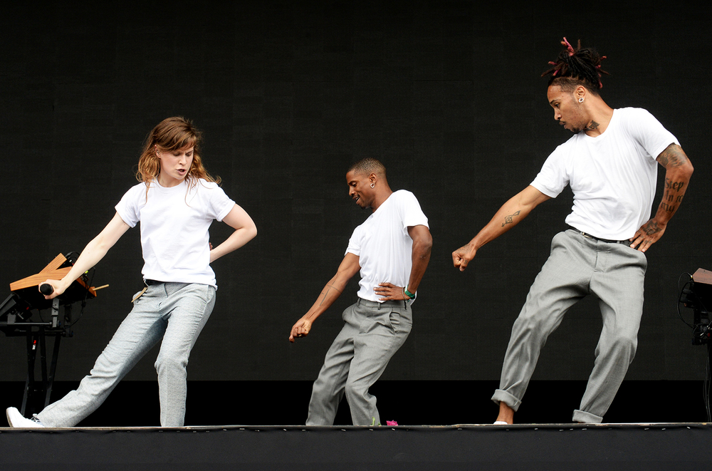 Christine and the Queens show off their killer dance moves.