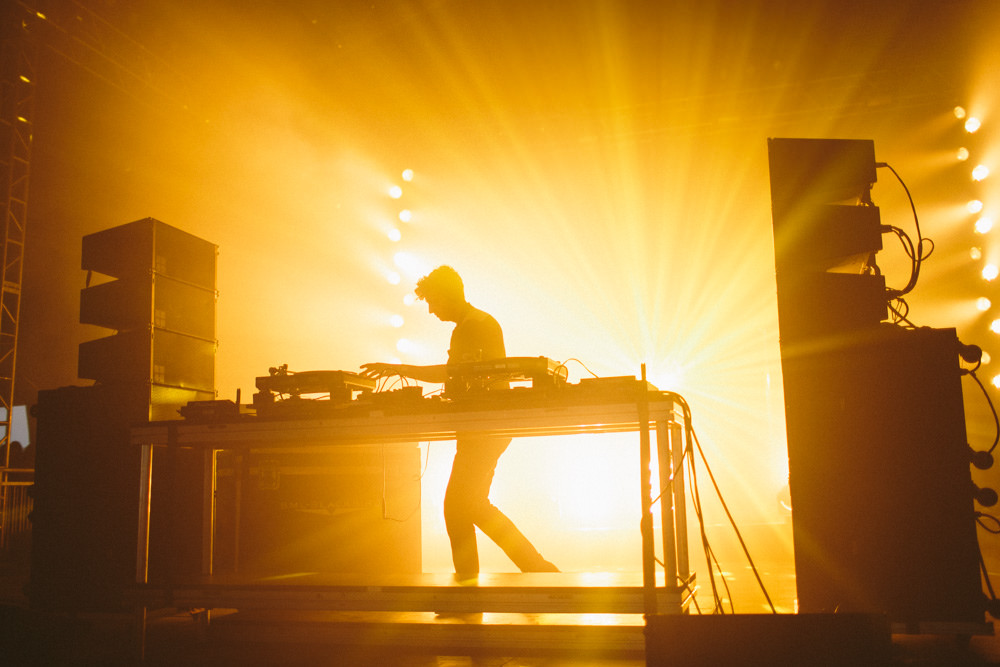 Jamie xx gave one of the best performances of the weekend.