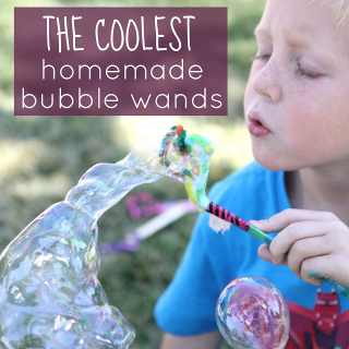The COOLEST homemade bubble wands by Toddler Approved