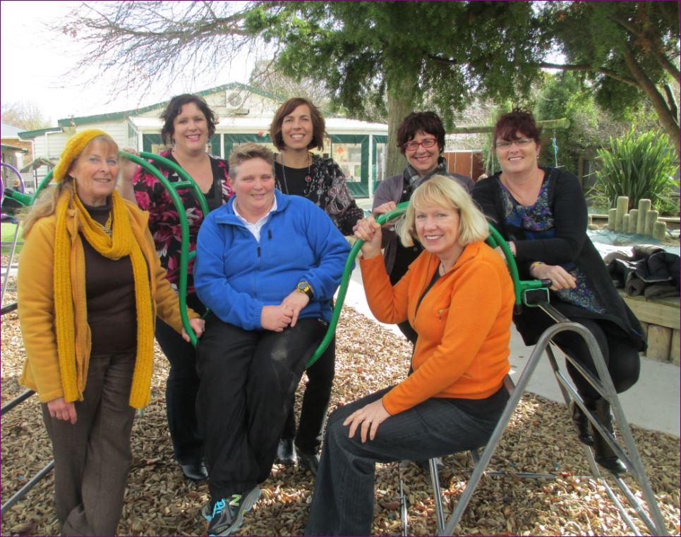 From left to right: Jill A Ellis (Head Teacher), Clare Ekins (Administrator) Susan Hildred (Teacher), Gina Livingstone (Teacher), Annie Harvey (Teacher), Wilma Aldridge (Teacher), Heather Gibson (Teachers Aide)