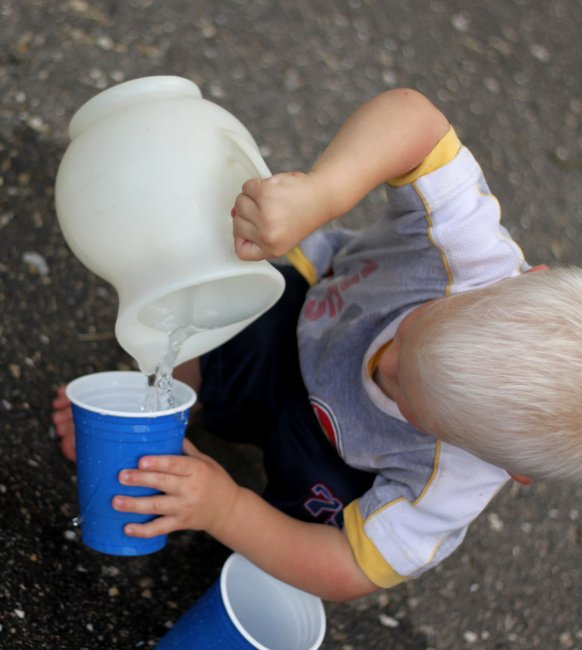 Image: Hands on as we grow - Pouring Water for Toddlers [Life Skill to Learn]