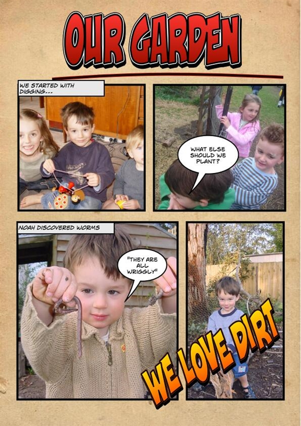 Use Strip Designer to include children's comments as they discover and learn
