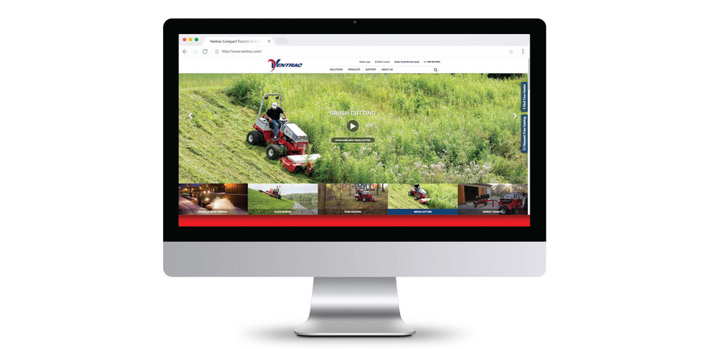 I worked on the User Experience and overall brand aesthetic for this website Redesign. Once it was complete I helped maintain the content updating photo libraries and product landing page information and videos. Visit ventrac.com get the full experience of the website.