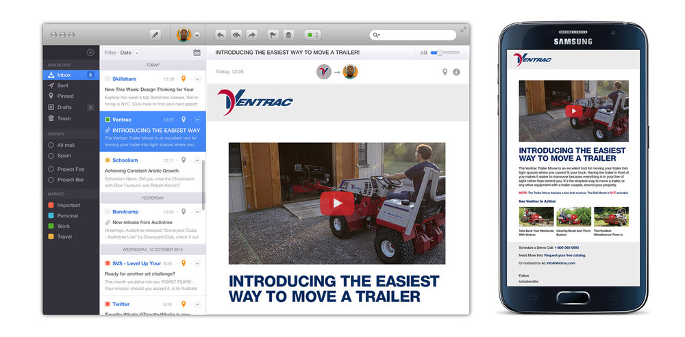 Ventrac New Product - Email Marketing