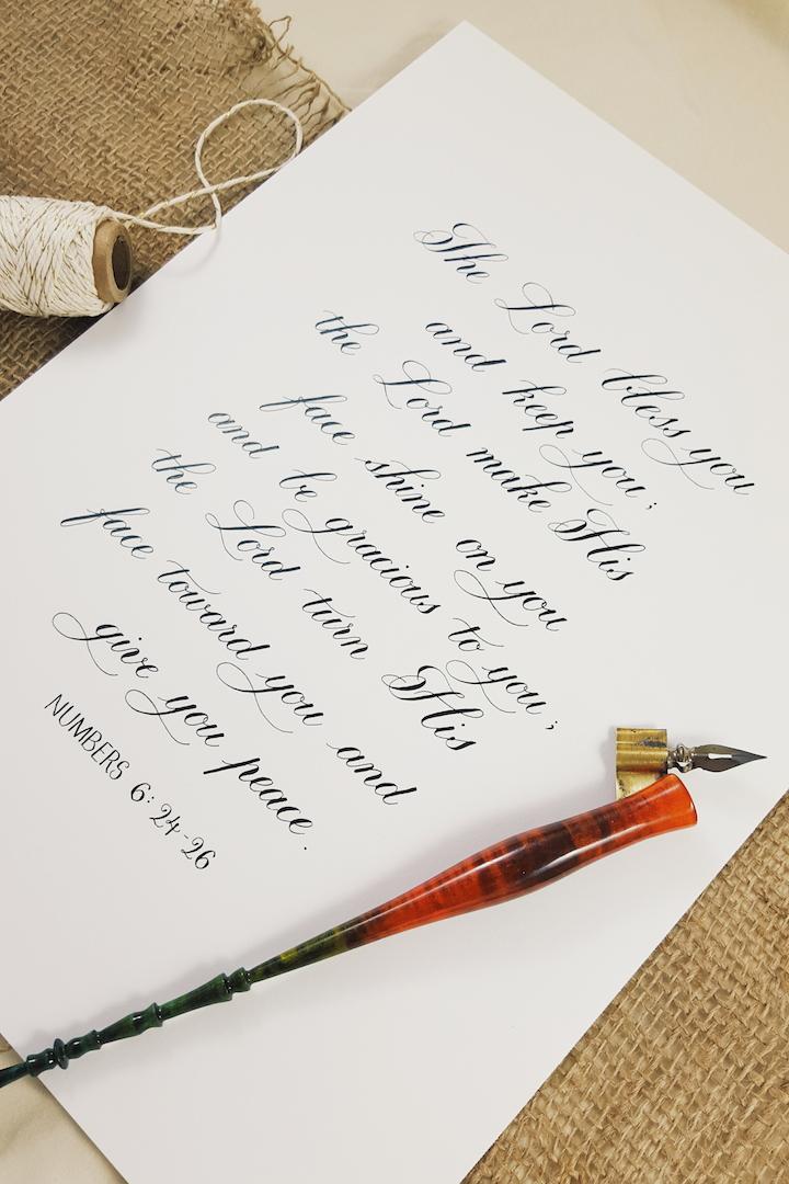 Custom Calligraphy Order- Dec 2015
