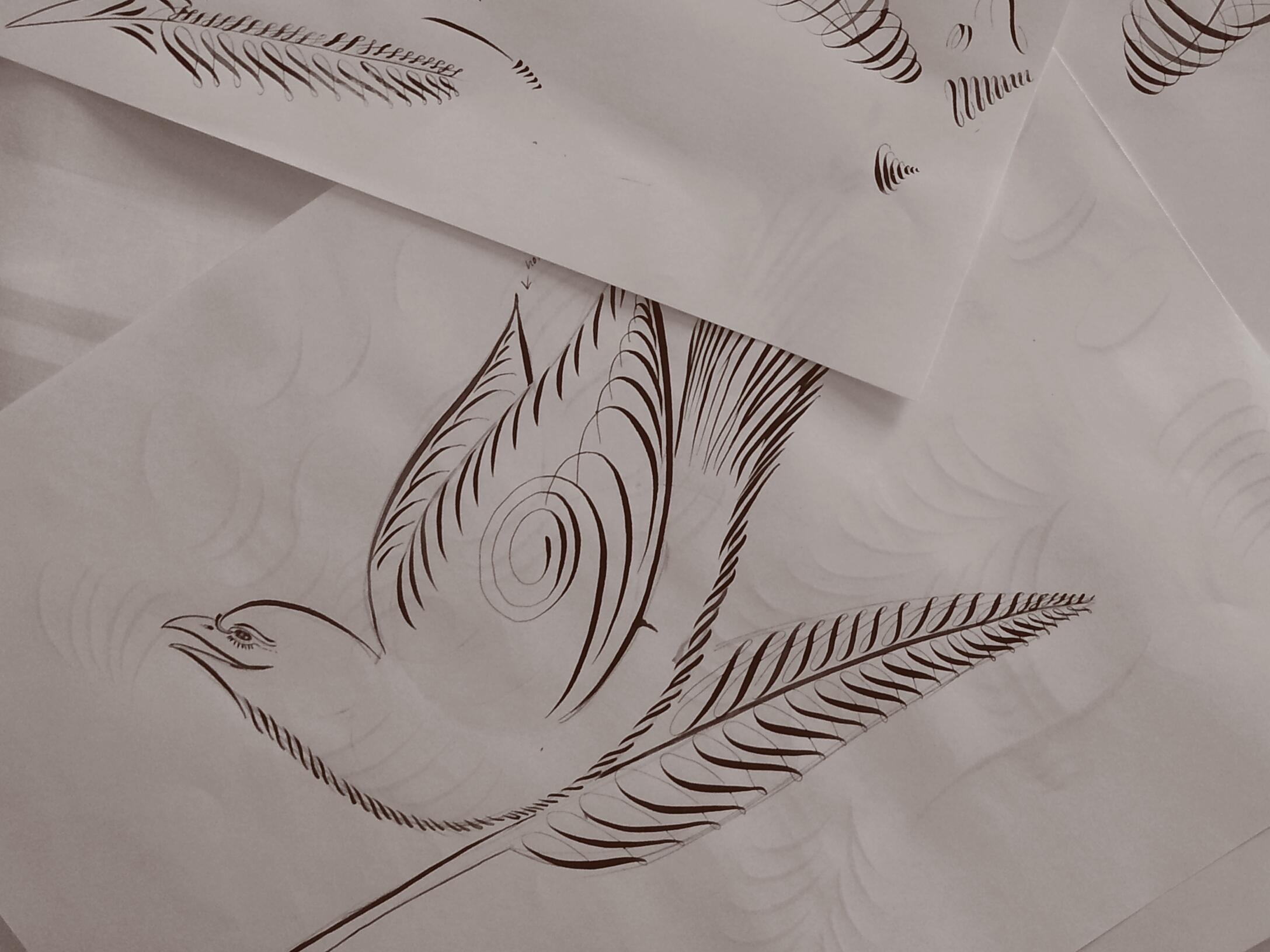 Flourished Bird