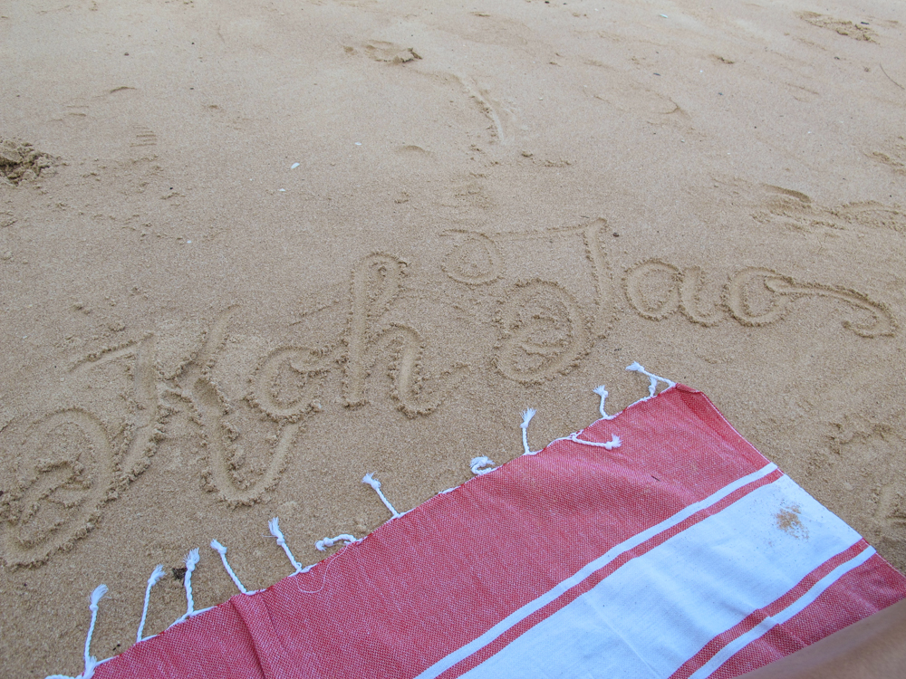 I love writing on beach sand!