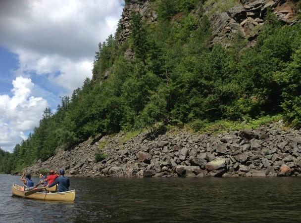 Canoeing the beautiful Barron River