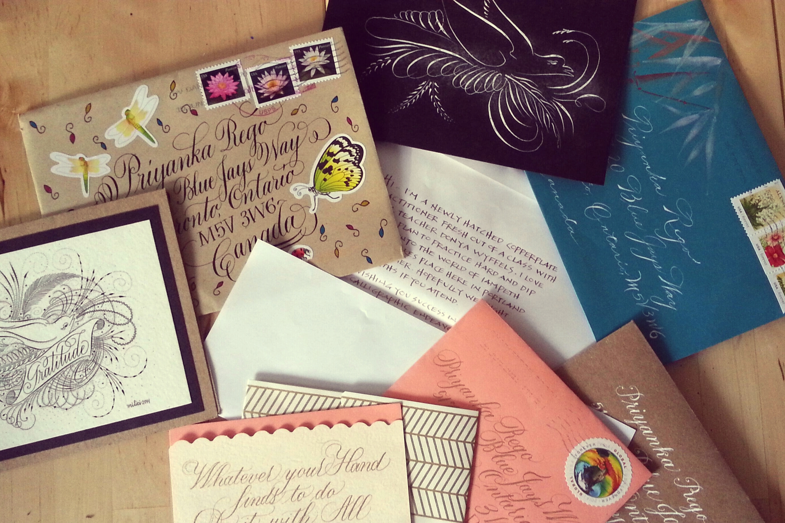 Envelopes from IAMPETH envelope exchange 2015