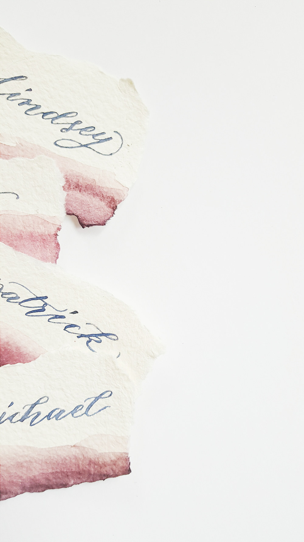 Watercolour placecards