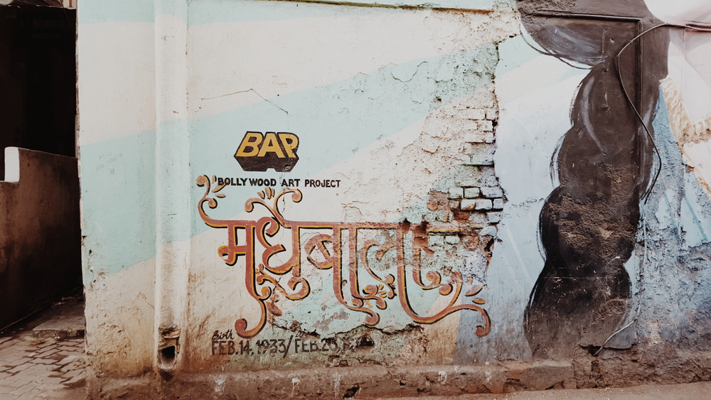 Some beautiful hindi lettering on the streets of Mumbai