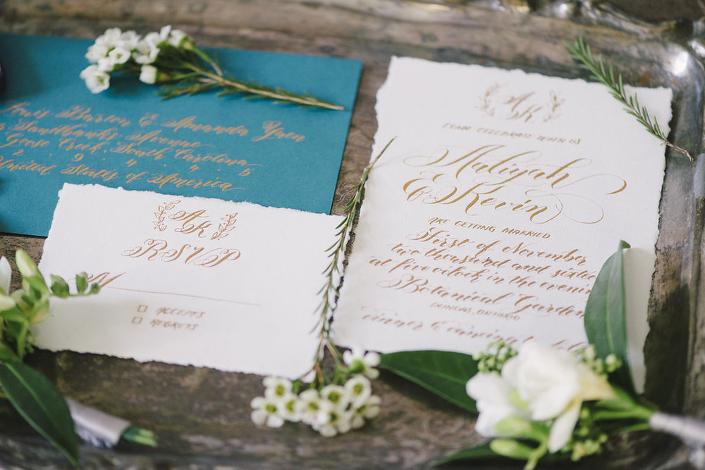 Rustic Wedding - Hand written Invitation Suite