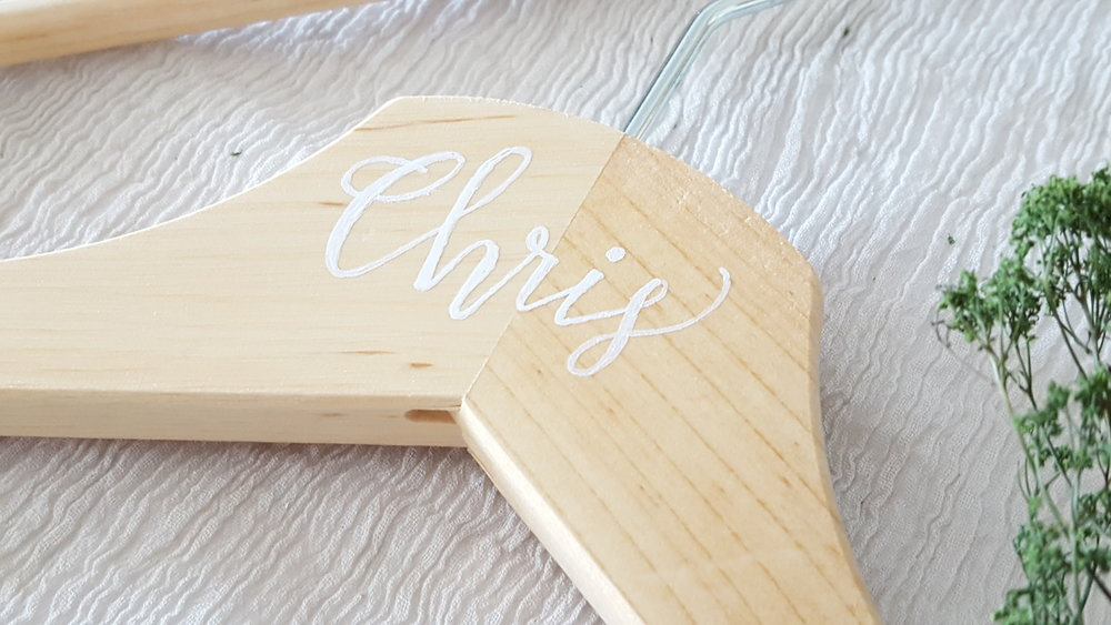 custom name hangers